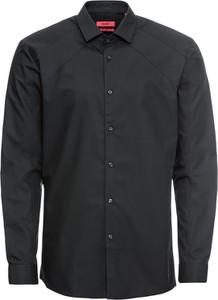Czarna koszula Hugo Boss z bawełny z długim rękawem
