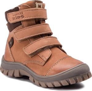 Brązowe buty dziecięce zimowe Lasocki Kids