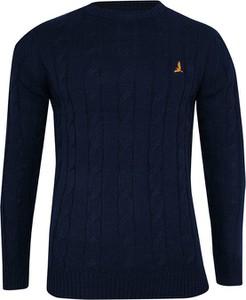 Granatowy sweter Brave Soul w stylu casual z tkaniny
