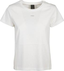 T-shirt Pinko z krótkim rękawem z okrągłym dekoltem w stylu casual