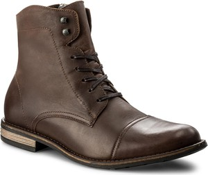 Szare buty zimowe gino rossi ze skóry