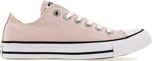 Różowe trampki Converse z płaską podeszwą