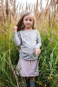 Zielona bluzka dziecięca M-art-a-baby z długim rękawem z bawełny
