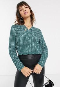 Bluzka Esprit z tkaniny z długim rękawem