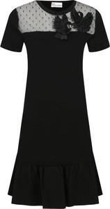 Czarna sukienka Red Valentino z krótkim rękawem