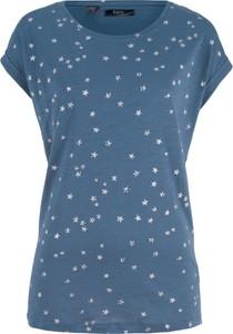 Niebieski t-shirt bonprix bpc bonprix collection z krótkim rękawem