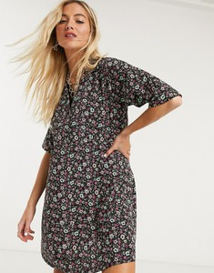 Czarna sukienka Noisy May oversize mini