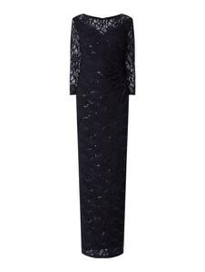 Czarna sukienka Christian Berg Cocktail z długim rękawem