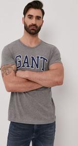 T-shirt Gant w młodzieżowym stylu z bawełny