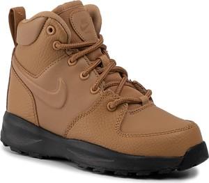 Brązowe buty dziecięce zimowe Nike