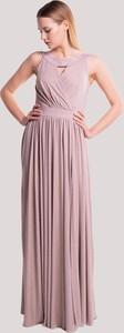 Różowa sukienka Maravilla Boutique maxi bez rękawów