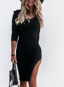 Sukienka Cikelly dopasowana w stylu casual z dresówki