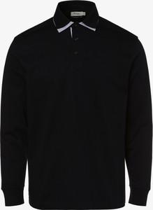 Czarna koszulka polo Mc Earl z długim rękawem