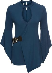 Niebieska bluzka bonprix bodyflirt boutique z długim rękawem