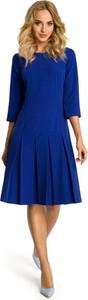 Sukienka MOE z długim rękawem midi