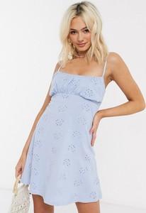 Różowa sukienka Asos z tkaniny mini
