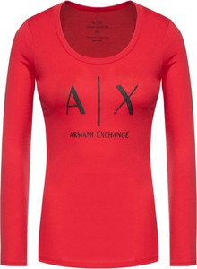 Czerwona bluzka Armani Jeans w stylu casual
