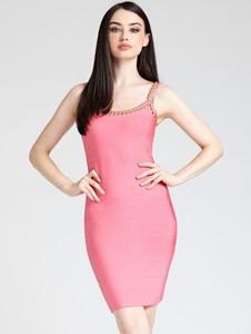 Sukienka Guess by Marciano z okrągłym dekoltem mini