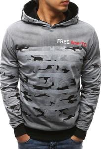 Dstreet bluza męska z kapturem szara (bx3453)