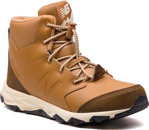 Brązowe buty dziecięce zimowe New Balance sznurowane