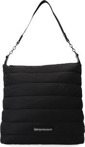 Czarna torebka Emporio Armani matowa na ramię