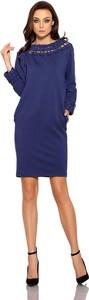 Sukienka Lemoniade z długim rękawem w stylu casual z golfem