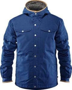 Niebieska kurtka Fjällräven z tkaniny