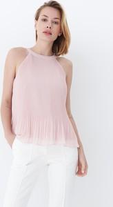 Różowa bluzka Mohito w stylu casual bez rękawów
