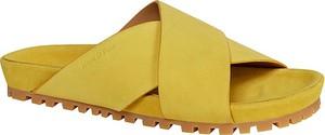 Klapki Marc O'polo Shoes z płaską podeszwą ze skóry