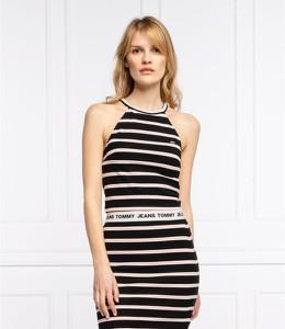 Sukienka Tommy Jeans mini w stylu casual bez rękawów