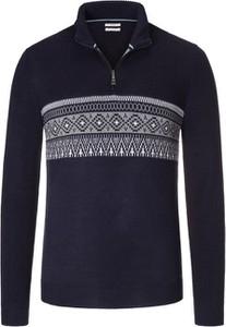 Niebieski sweter Brax z bawełny