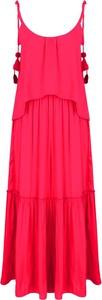 Sukienka Pepe Jeans z okrągłym dekoltem midi