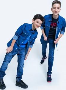 Niebieska koszula dziecięca Big Star dla chłopców z tkaniny