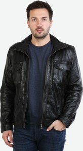 Brązowa kurtka David Ryan w stylu casual ze skóry