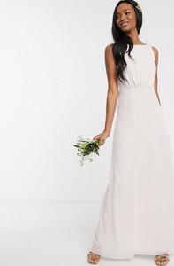 Sukienka Maids To Measure bez rękawów maxi z szyfonu