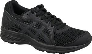 Czarne buty sportowe ASICS sznurowane z płaską podeszwą w sportowym stylu