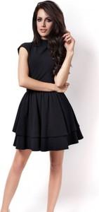 Czarna sukienka Ivon z tiulu mini