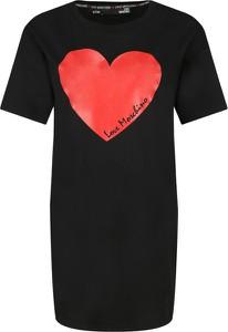 Sukienka Love Moschino z okrągłym dekoltem z krótkim rękawem mini