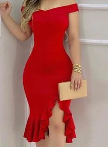Sukienka Arilook z krótkim rękawem midi hiszpanka