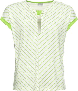 Zielony t-shirt bonprix BODYFLIRT