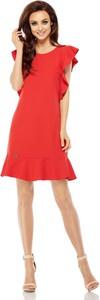 Czerwona sukienka Lemoniade z okrągłym dekoltem