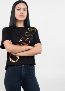 Czarny t-shirt Guess z okrągłym dekoltem
