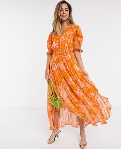 Pomarańczowa sukienka Rahi Cali