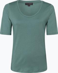 Zielony t-shirt Franco Callegari z dżerseju z krótkim rękawem z okrągłym dekoltem