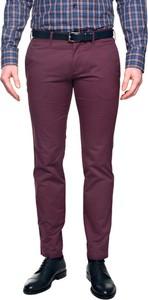 Granatowe spodnie recman bez wzorów