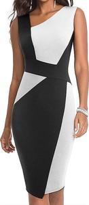 Sukienka Arilook bez rękawów asymetryczna z okrągłym dekoltem