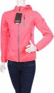 Różowa kurtka CMP krótka w sportowym stylu