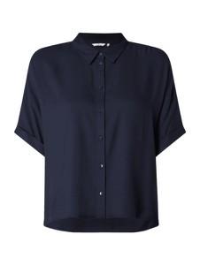 Granatowa bluzka Tom Tailor z krótkim rękawem w stylu casual