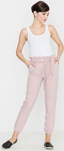 Różowe spodnie LENITIF w stylu casual