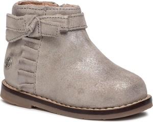 Złote buty dziecięce zimowe Mayoral na zamek